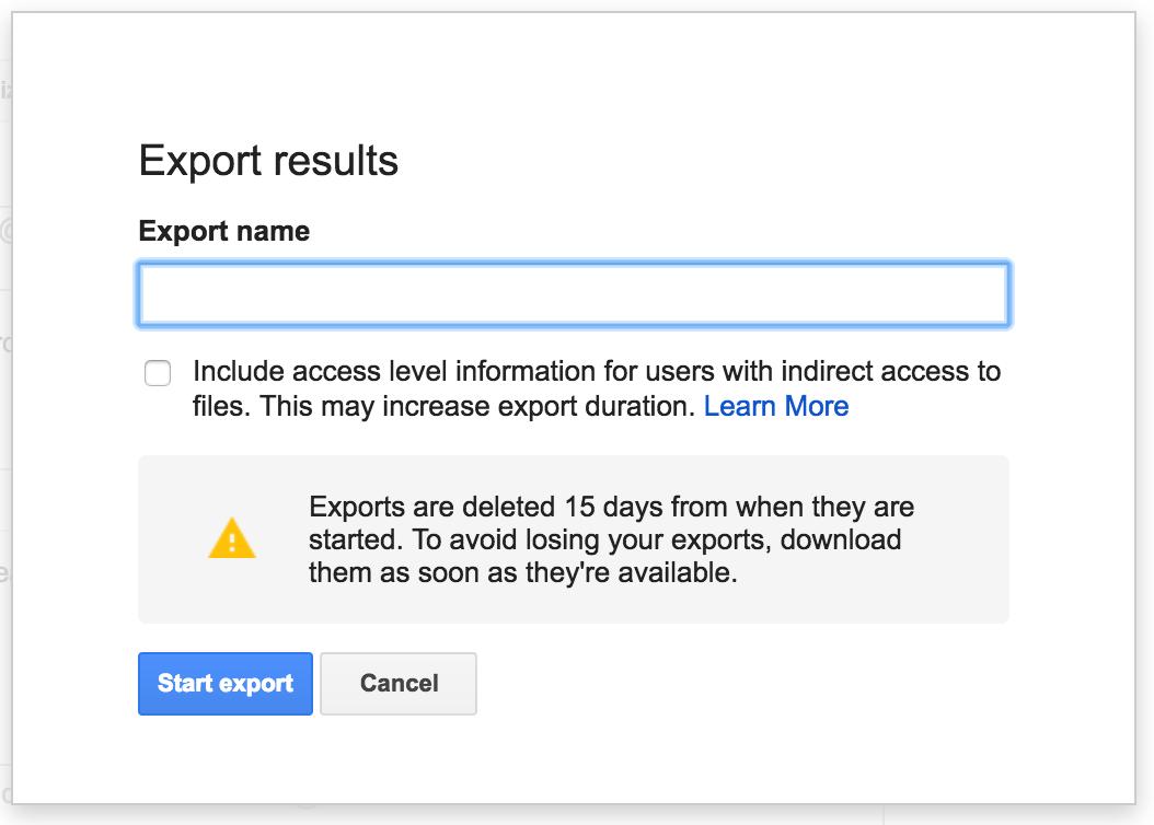 Metadatos Exportación Vault