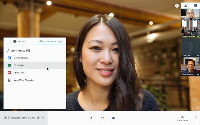 Novedades en Hangouts Meet