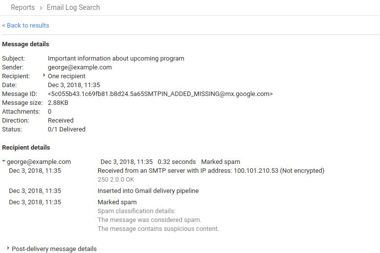 mensajes de spam