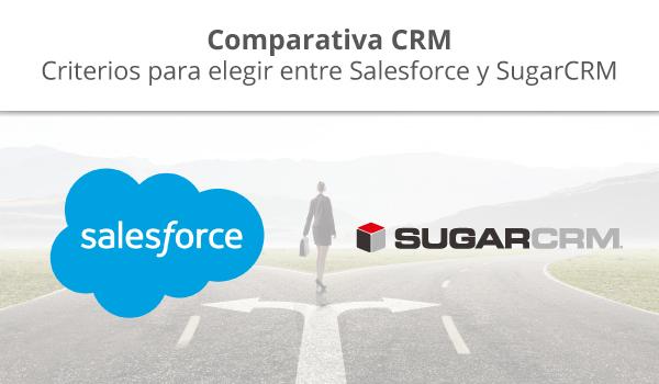 CRM comparativa Salesforce y SugarCRM