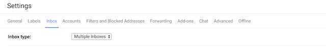 Várias Caixas de entrada do Gmail