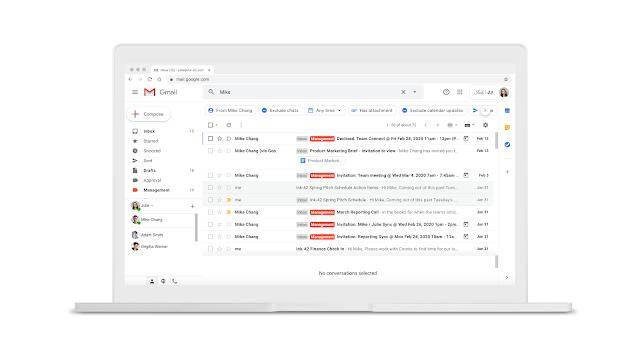 Novas funções e recursos Gmail