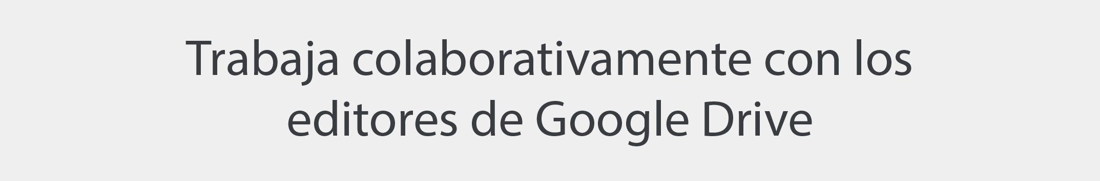 Editores Google Drive