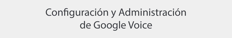 Configuración y administración de Google Voice