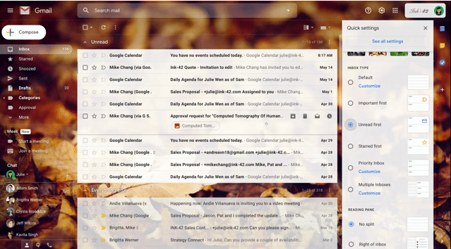 Novos recursos no Gmail
