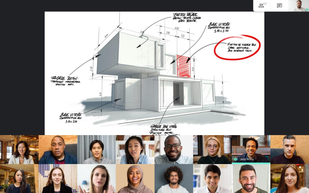 layout do Google Meet