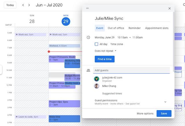 Nuevas funciones Calendar Grupos Contactos Google