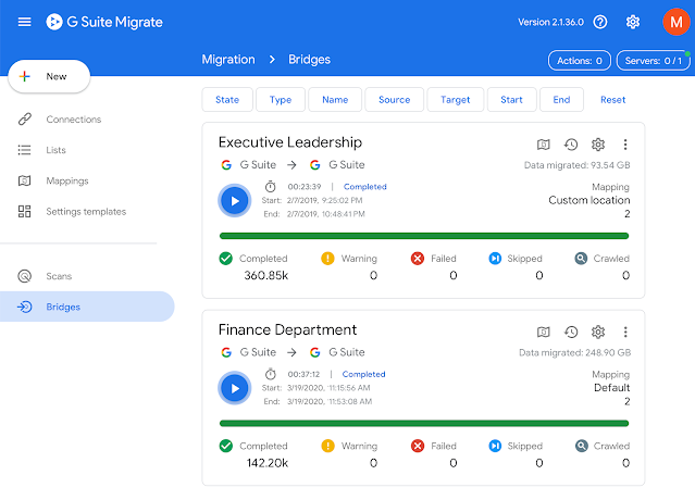 Migrar usuarios y datos G Suite
