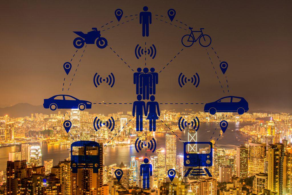 Google Maps Platform transporte compartido