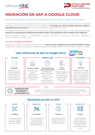 Migracion SAP Google Cloud